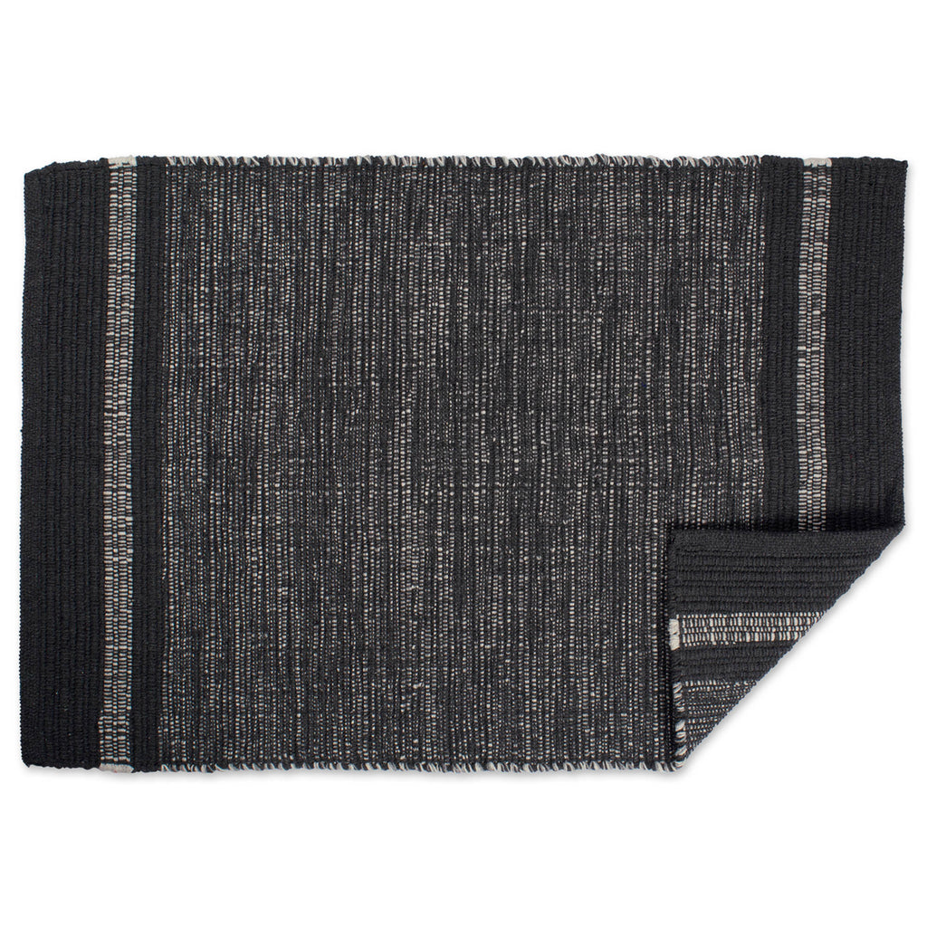 DII Varigated Gray Recycled Yarn Rug