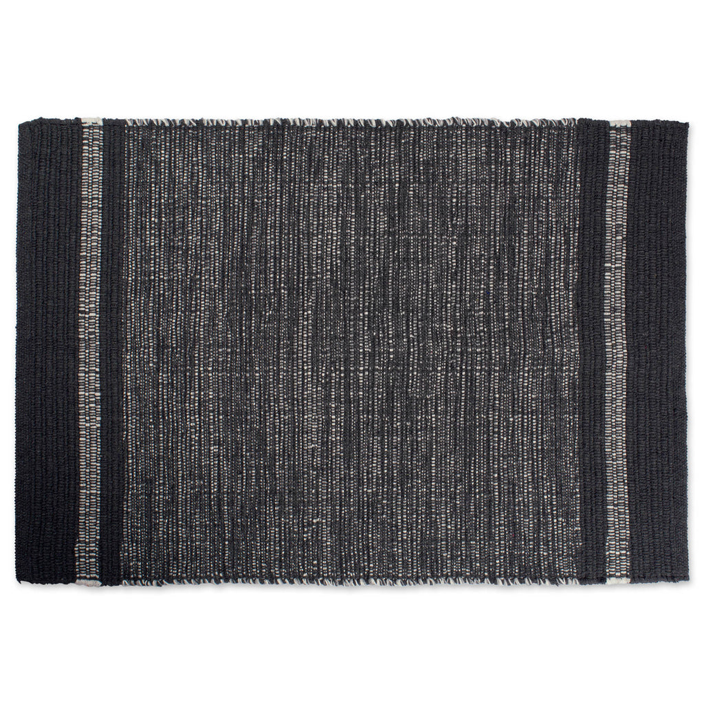 Varigated Gray Recycled Yarn Rug 2x3 Ft