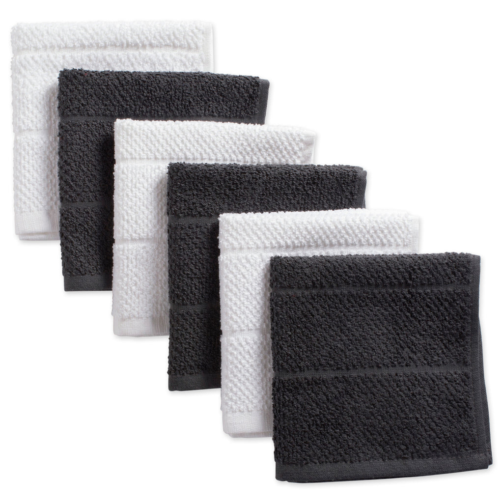 Asst Mineral Basic Chef Terry Dishcloth Set/6