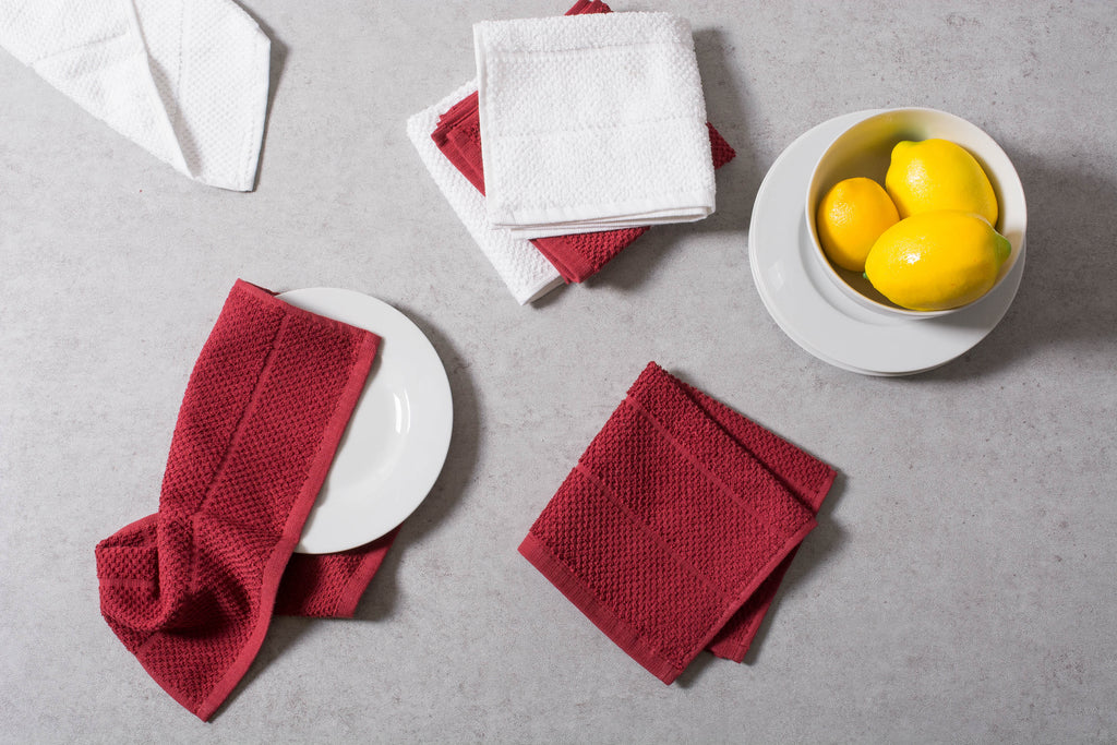 DII Assorted Barn Red Basic Chef Terry Dishcloth (Set of 6)