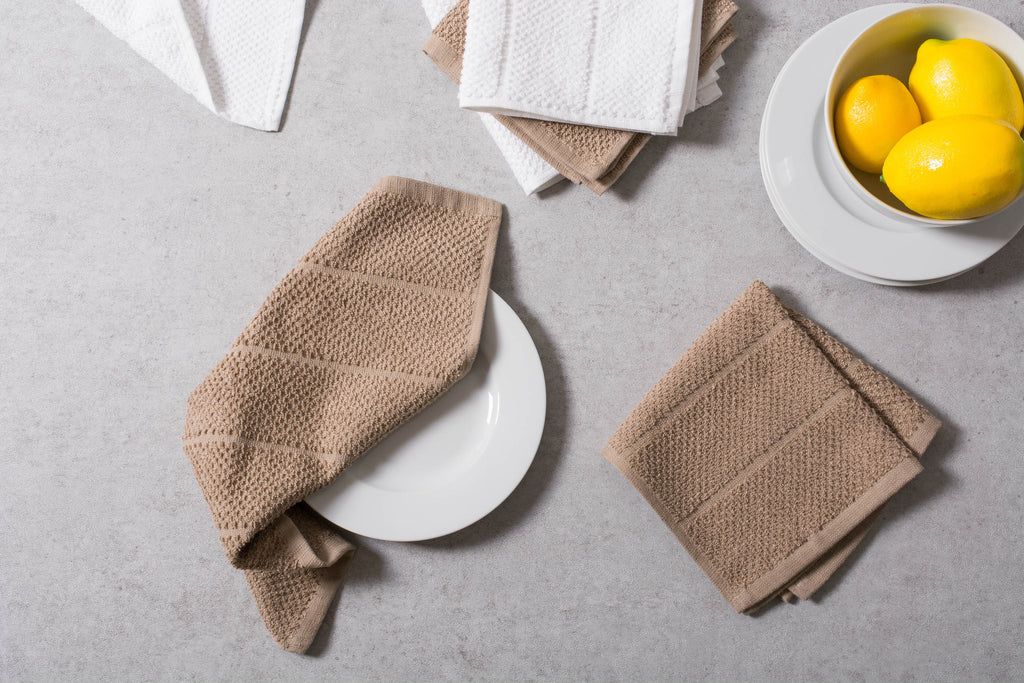 DII Assorted Stone Basic Chef Terry Dishcloth (Set of 6)