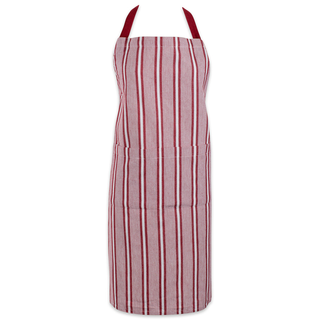 Barn Red Chef Stripe Chef Apron