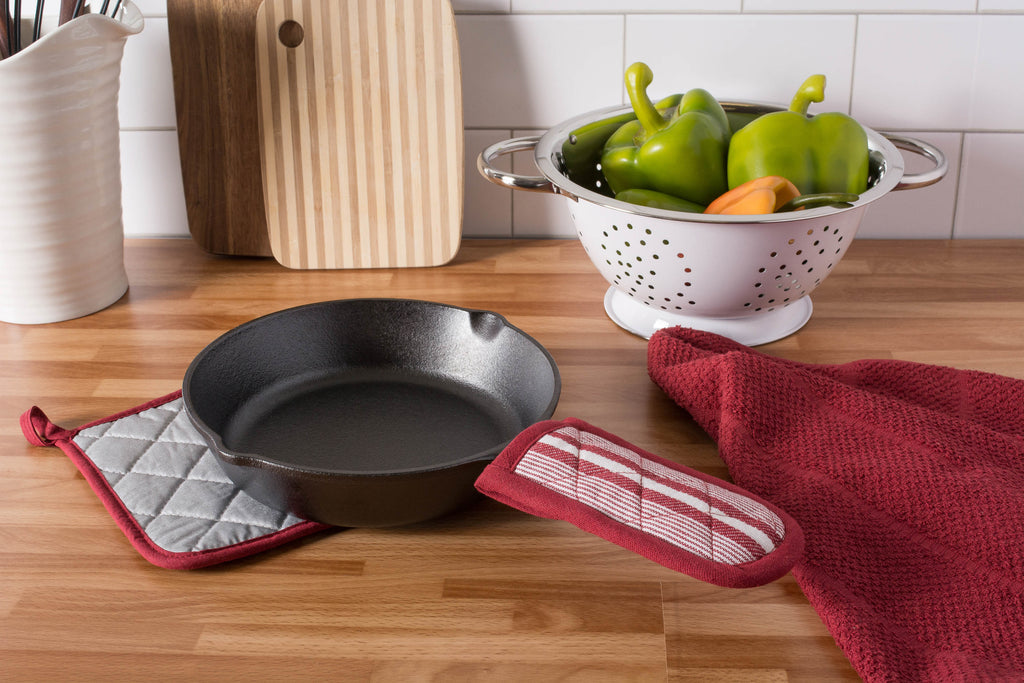 DII Barn Red Chef Stripe Pan Handle (Set of 3)