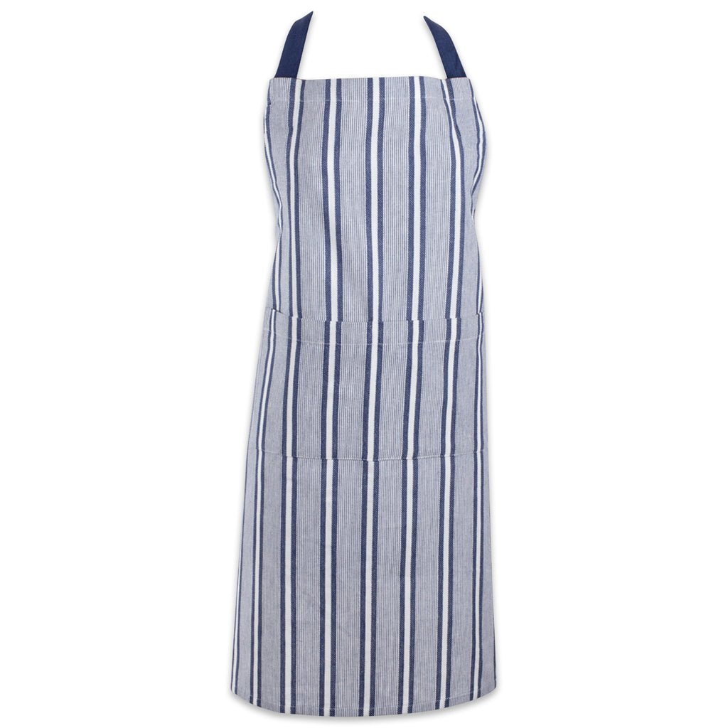 French Blue Chef Stripe Chef Apron