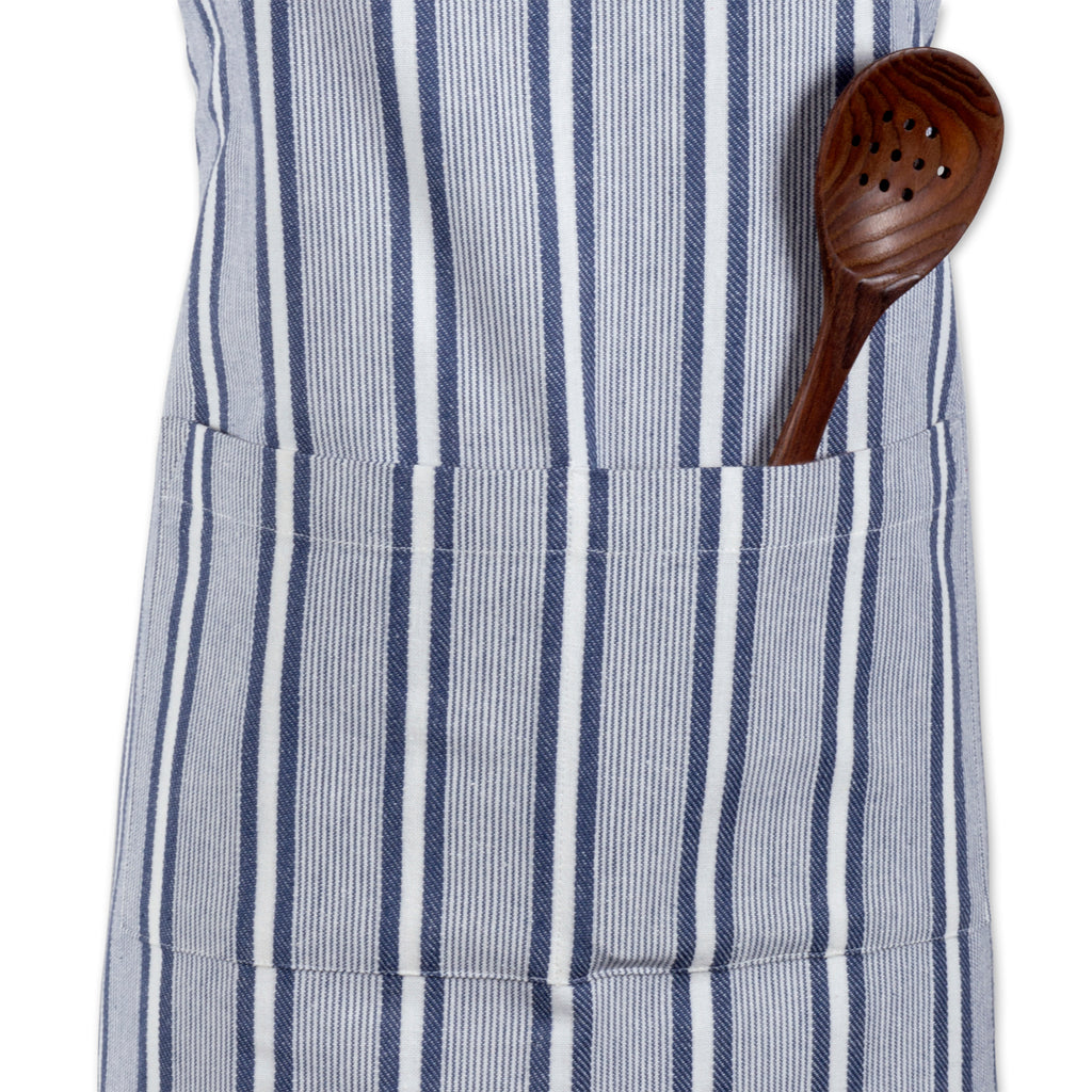 DII French Blue Chef Stripe Chef Apron