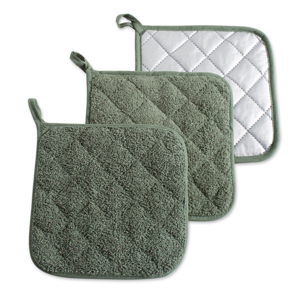 Artichoke Terry Potholder Set/3