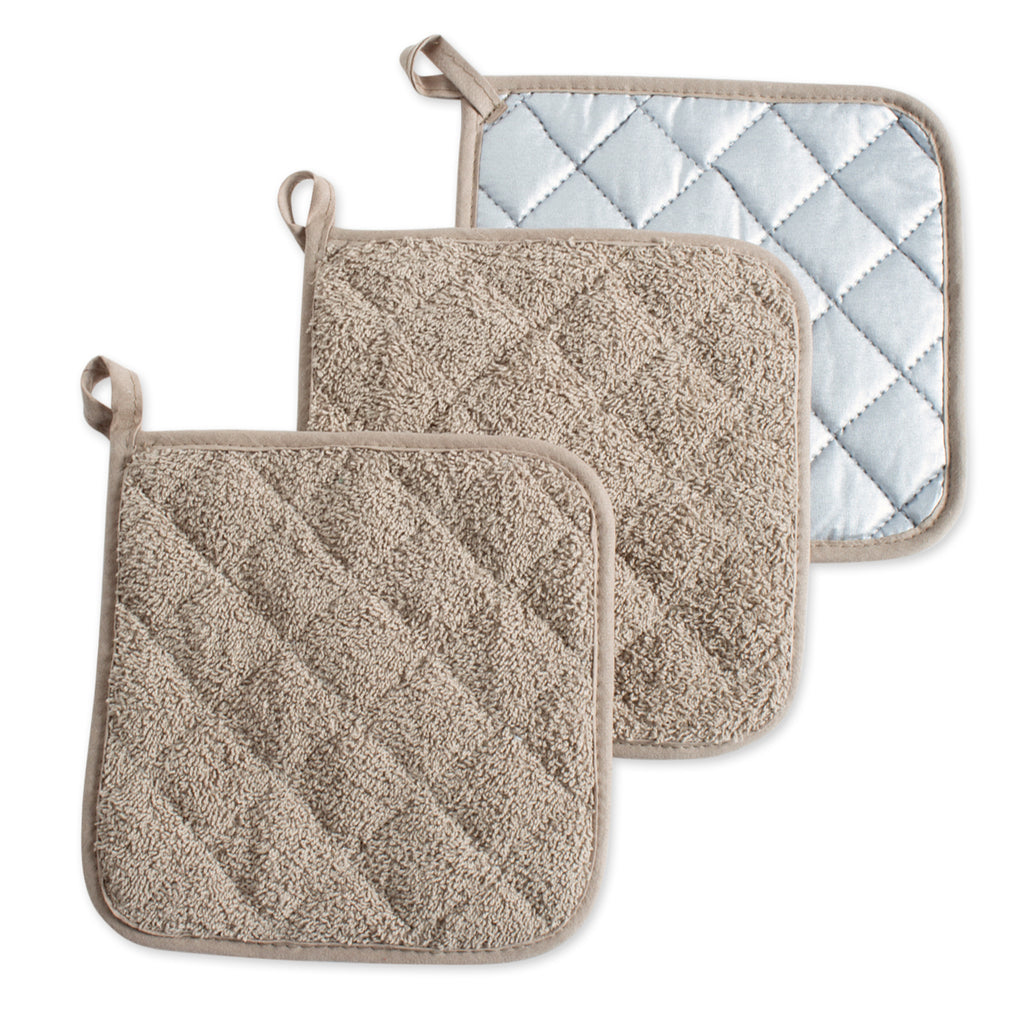 Stone Terry Potholder Set/3