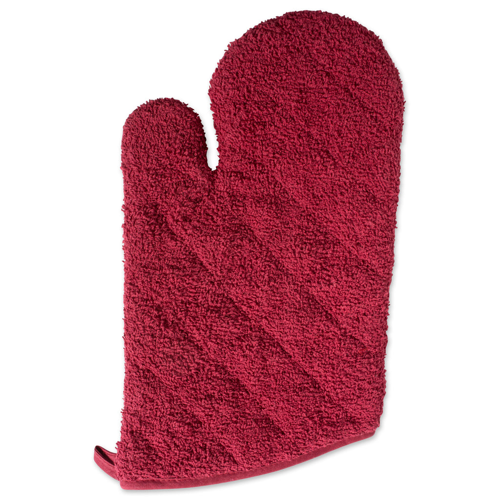 DII Barn Red Terry Oven Mitt (Set of 2)