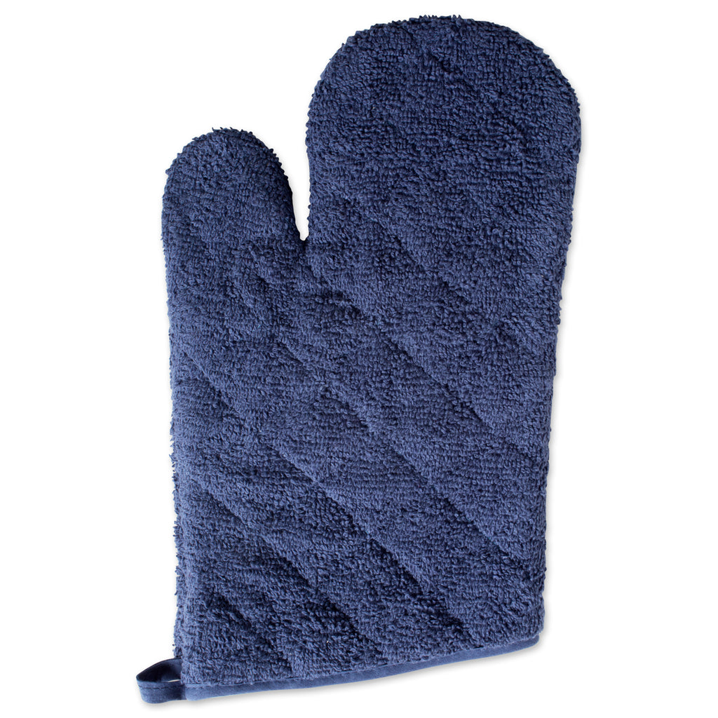 DII French Blue Terry Oven Mitt (Set of 2)