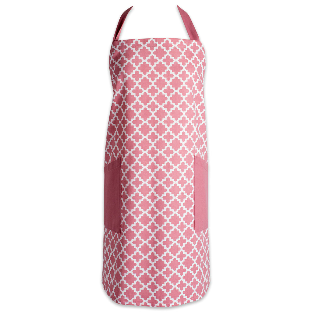 Rose Lattice Print 2-Pocket Apron