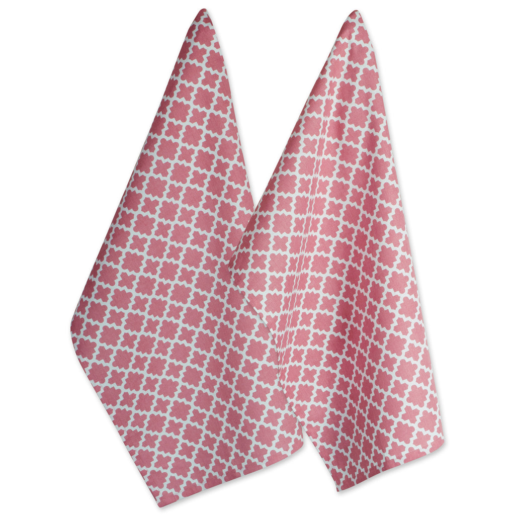 Rose Lattice Dishtowel Set/2