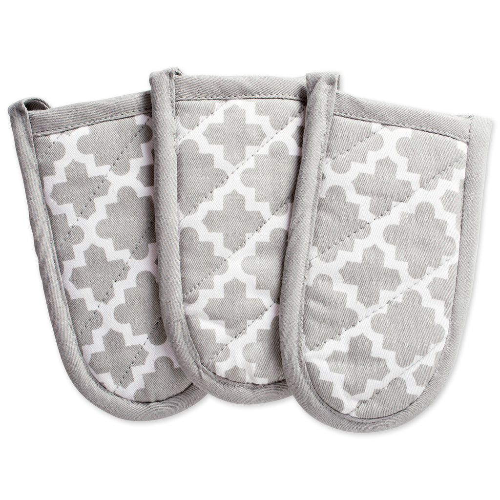 Gray Lattice Panhandle Set/3