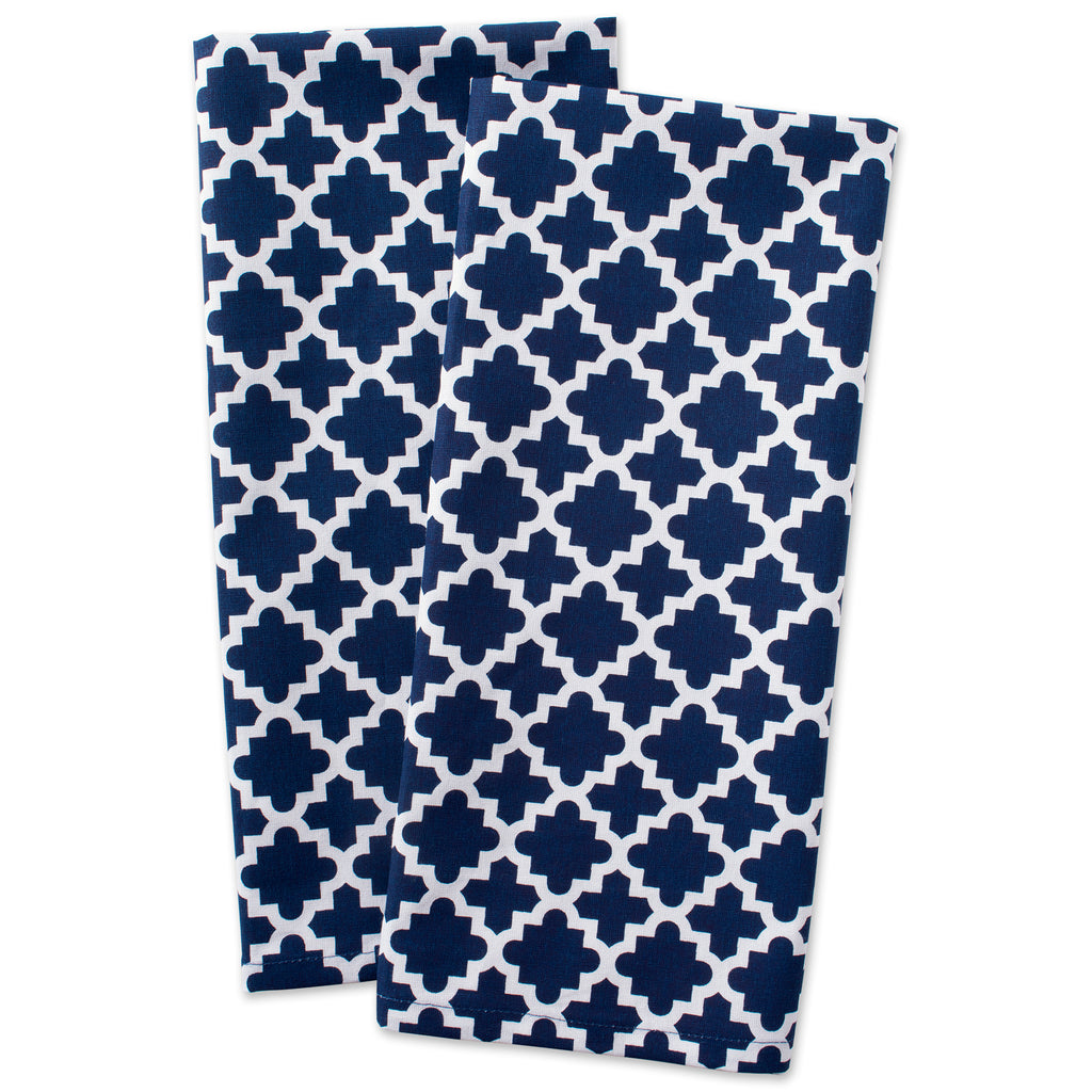 DII Nautical Blue Lattice Dishtowel (Set of 2)