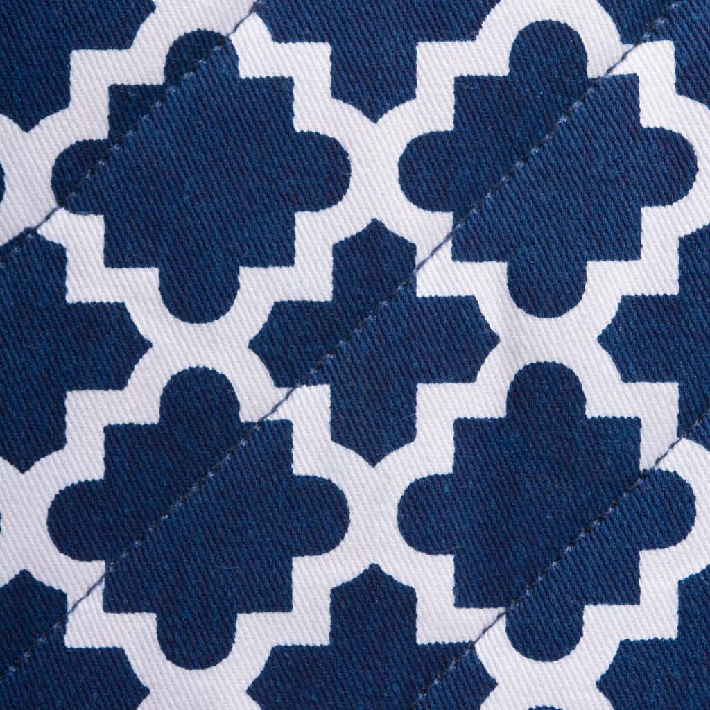 DII Nautical Blue Lattice Oven Mitt (Set of 2)