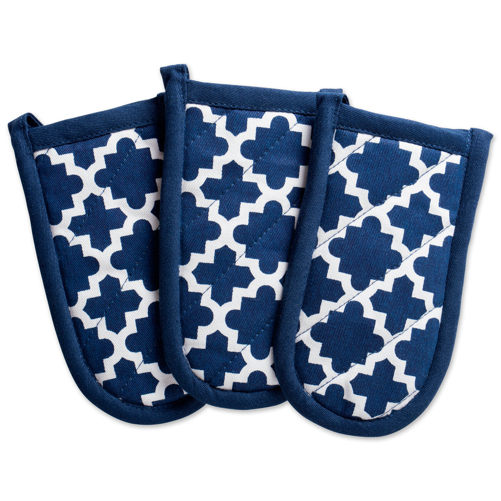 Nautical Blue Lattice Panhandle Set/3