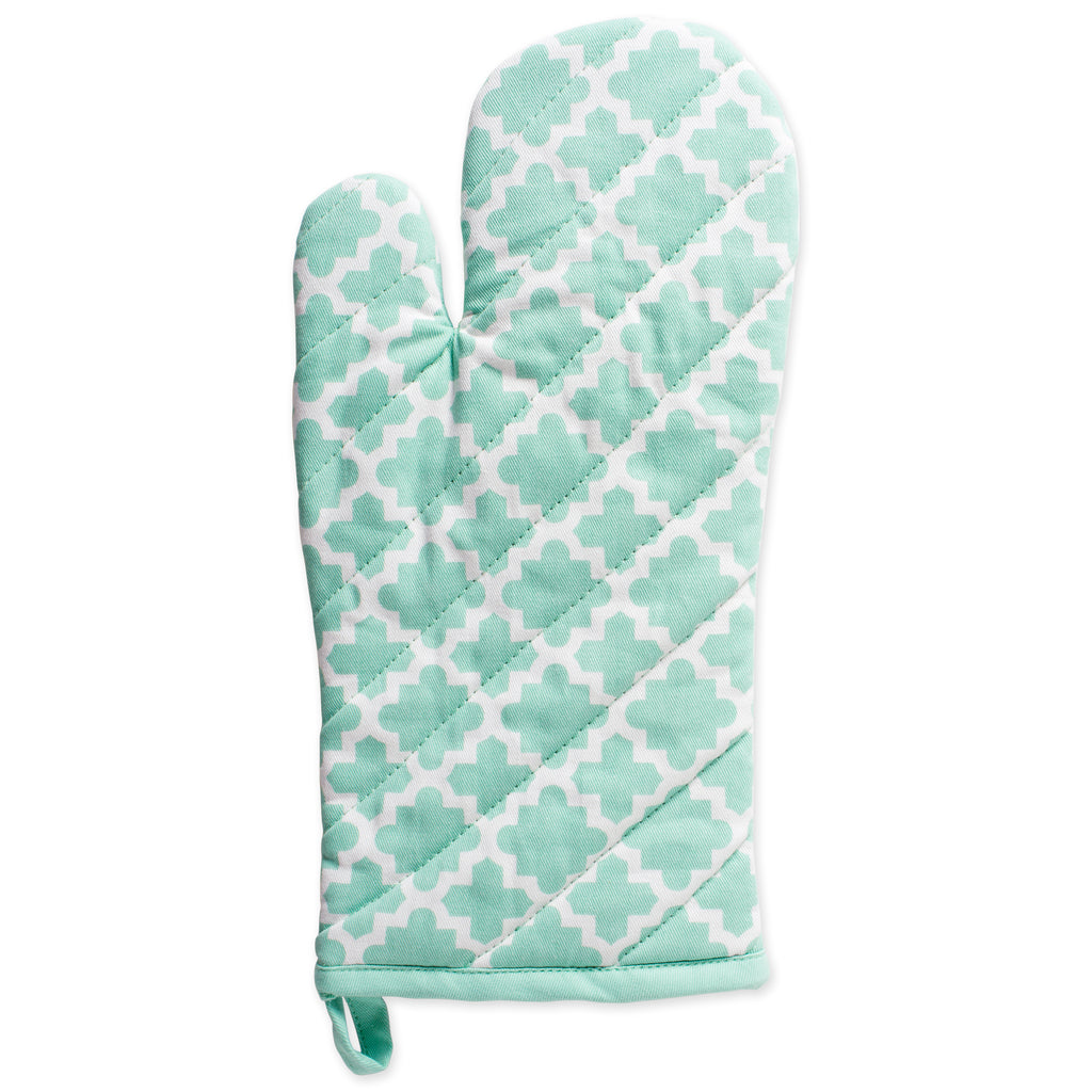 DII Aqua Lattice Oven Mitt (Set of 2)