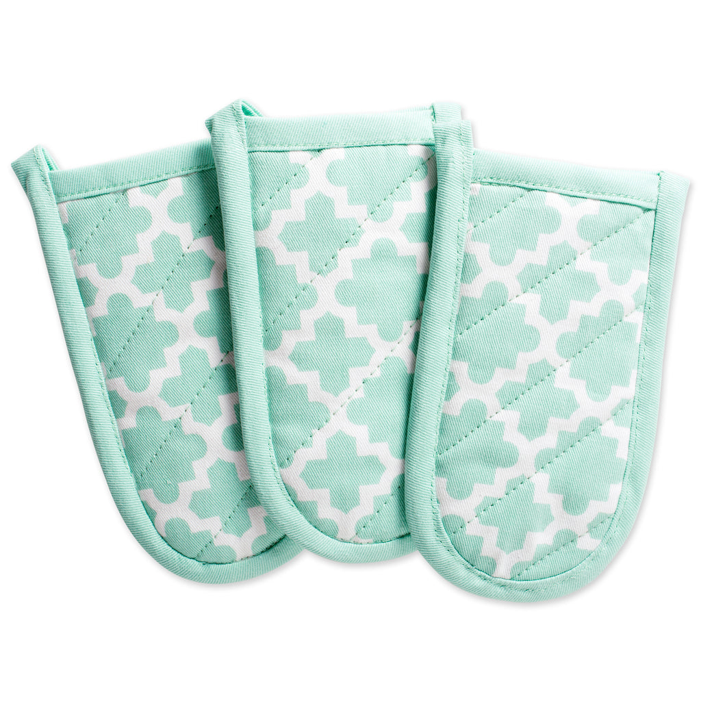 Aqua Lattice Panhandle Set/3