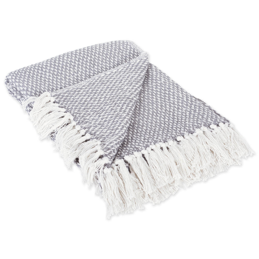Gray Woven Throw