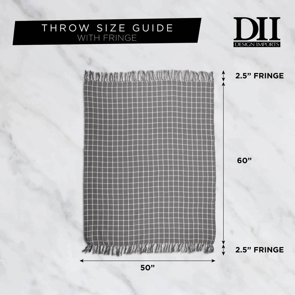 DII Gray Woven Throw