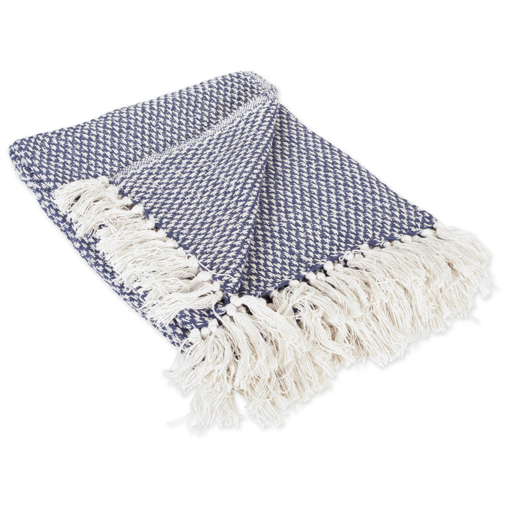 Nautical Blue Woven Throw