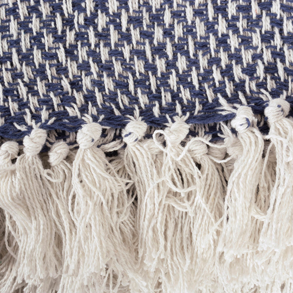 DII Nautical Blue Woven Throw