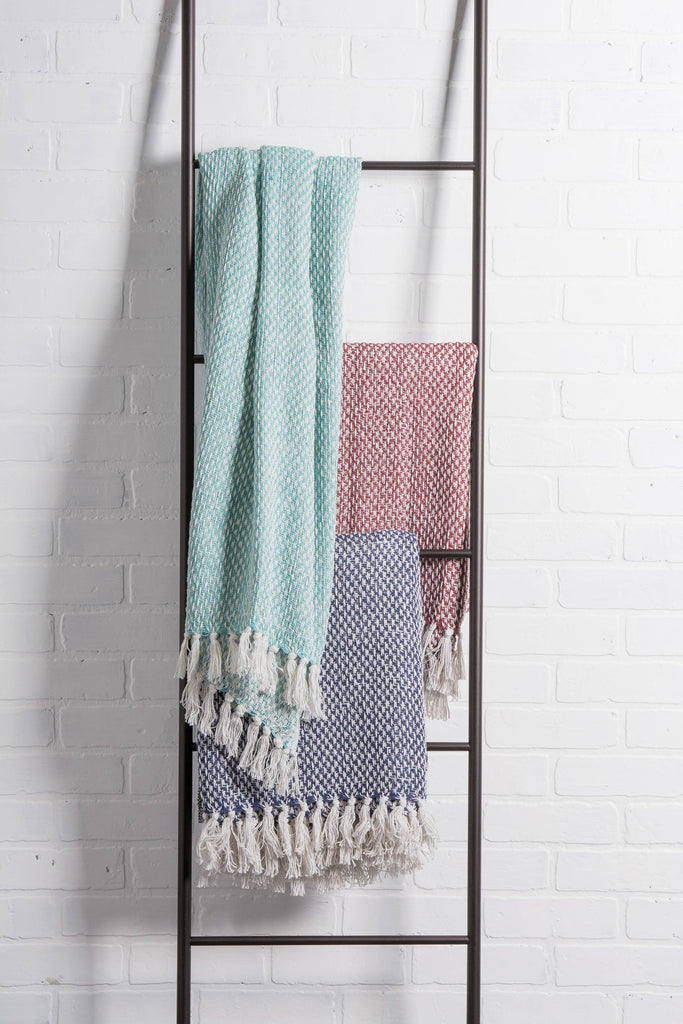 DII Barn Red Woven Throw