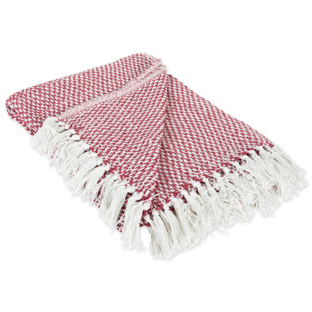 Barn Red Woven Throw