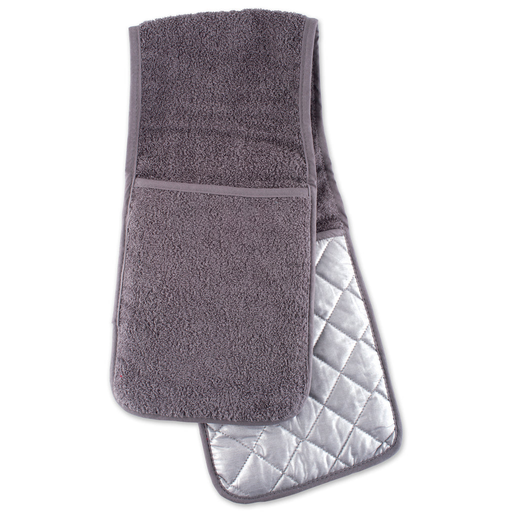 Gray Terry Double Oven Mitt