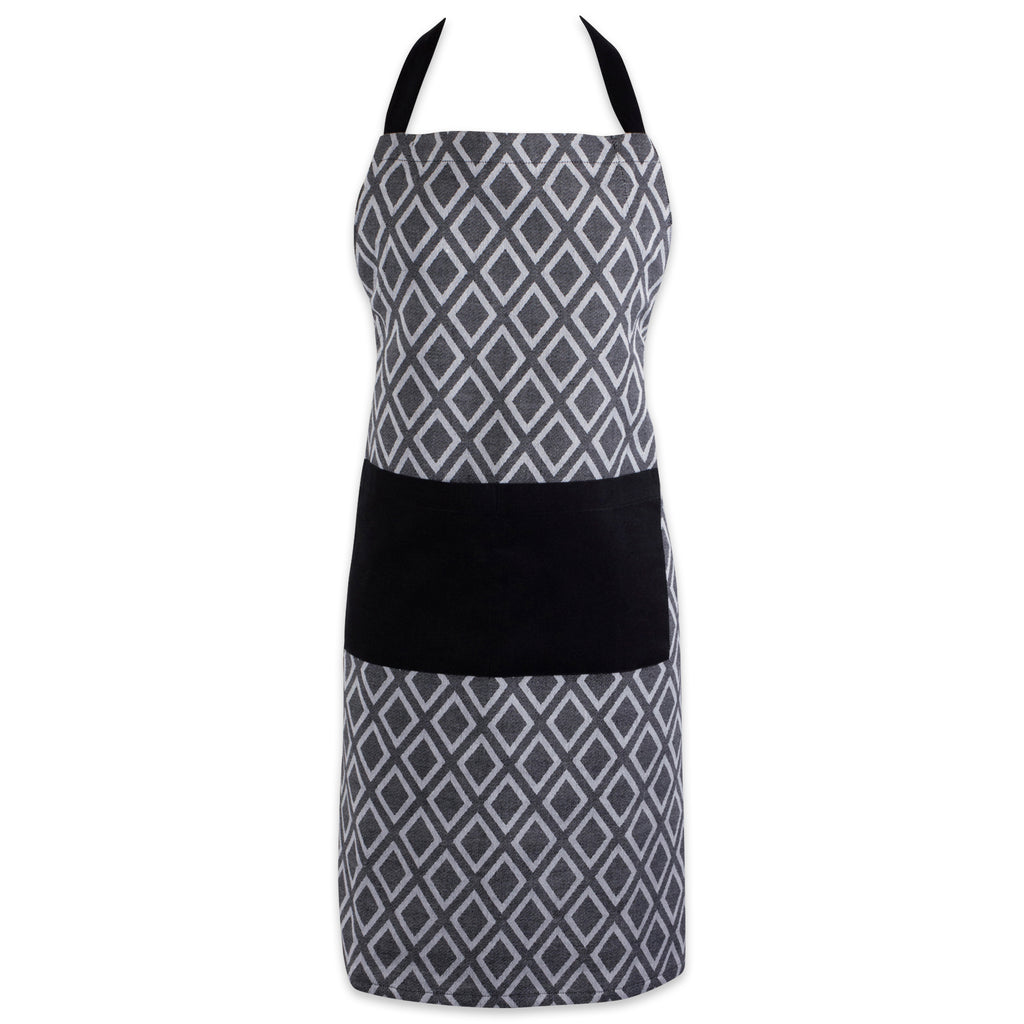 Black & White Diamond Chef Apron
