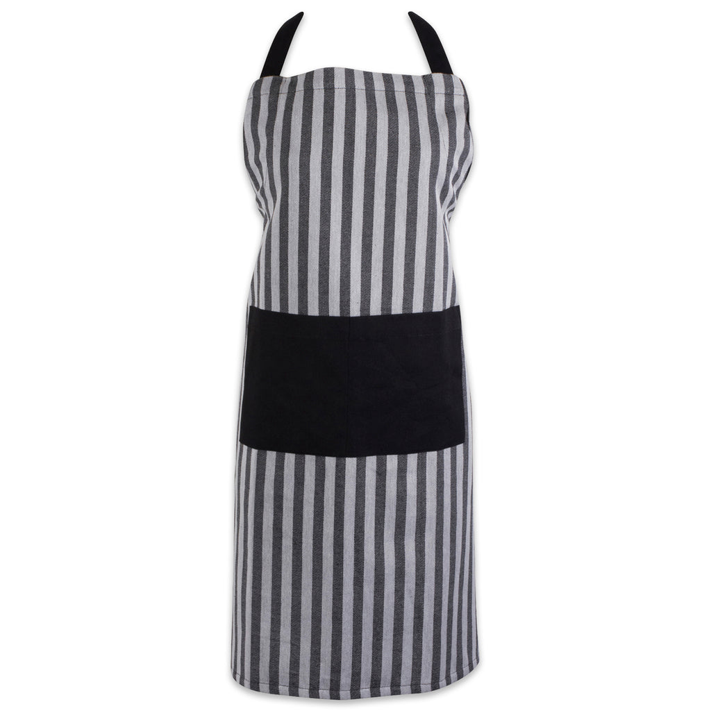 Black & White Stripe Chef Apron