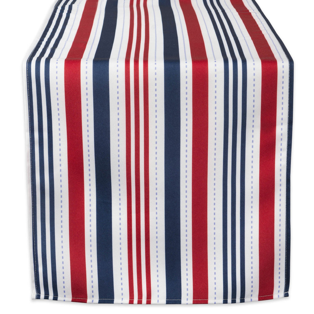Patriotic Stripe Outdoor Table Runner 14x108