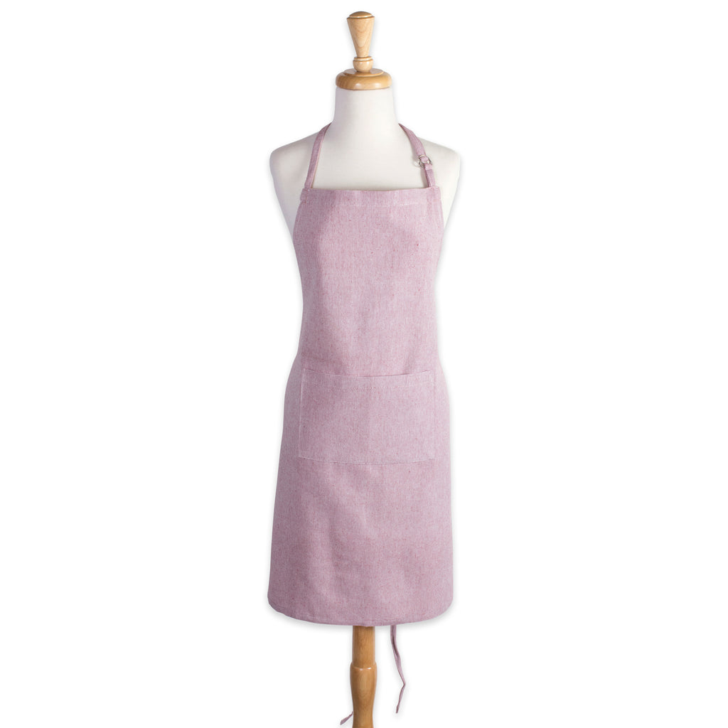 DII Barn Red Solid Chambray Chef Apron