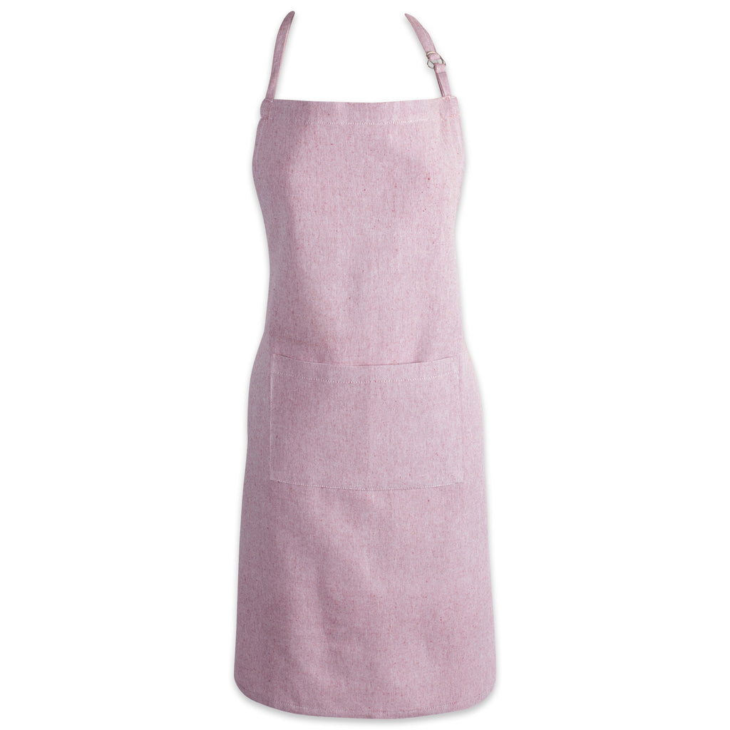 Barn Red Solid Chambray Chef Apron