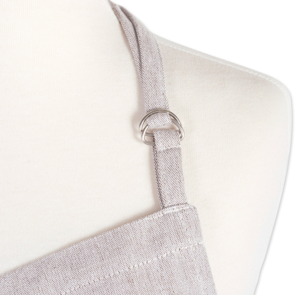DII Stone Brown Solid Chambray Chef Apron