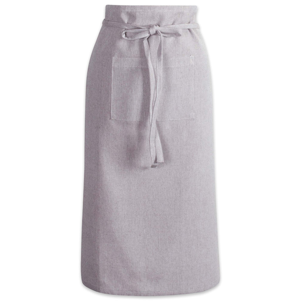 Stone Brown Solid Chambray Bistro Apron