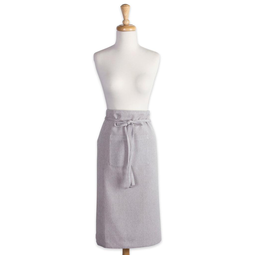 DII Stone Brown Solid Chambray Bistro Apron