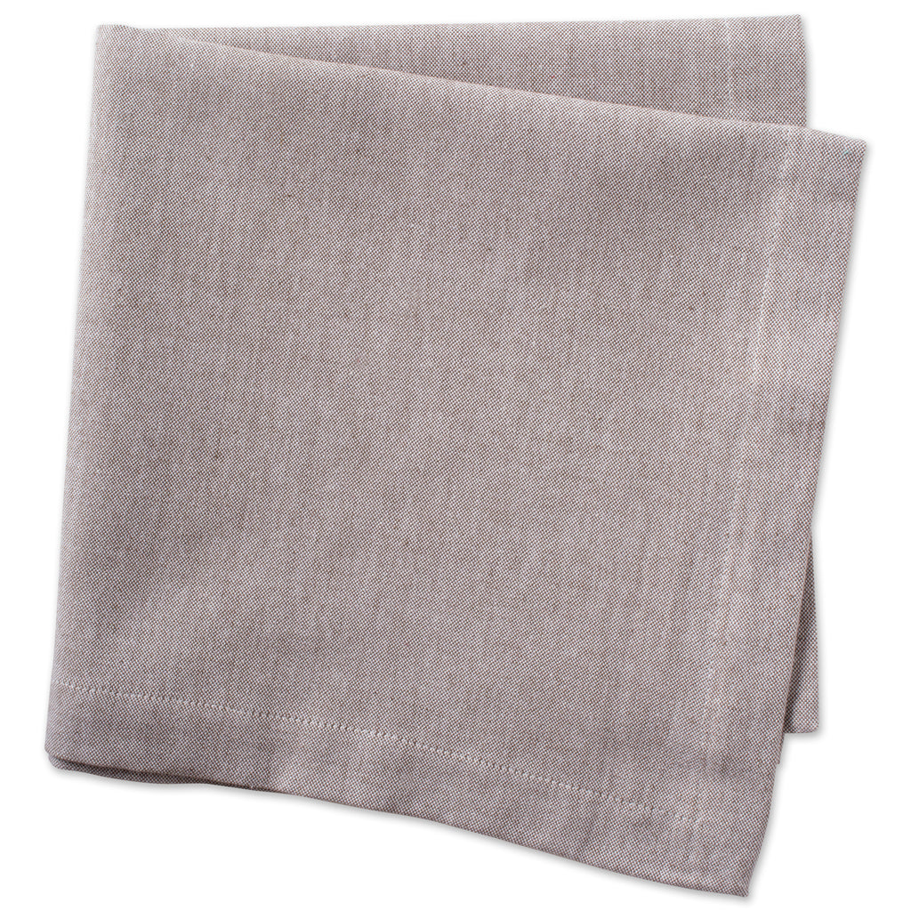DII Stone Brown Solid Chambray Napkin (Set of 6)