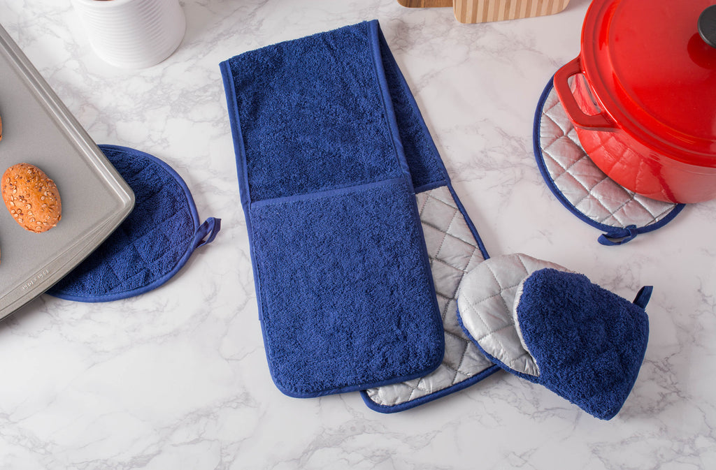 DII Nautical Blue Short Oven Mitt (Set of 2)
