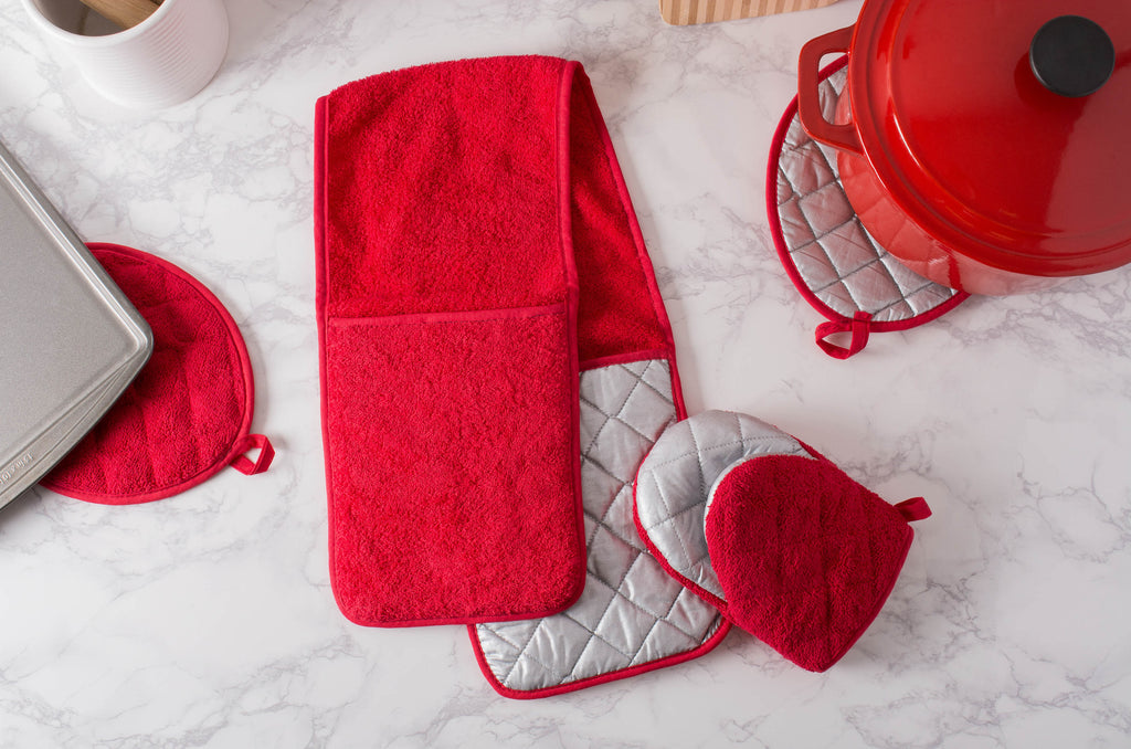 DII Red Short Oven Mitt (Set of 2)