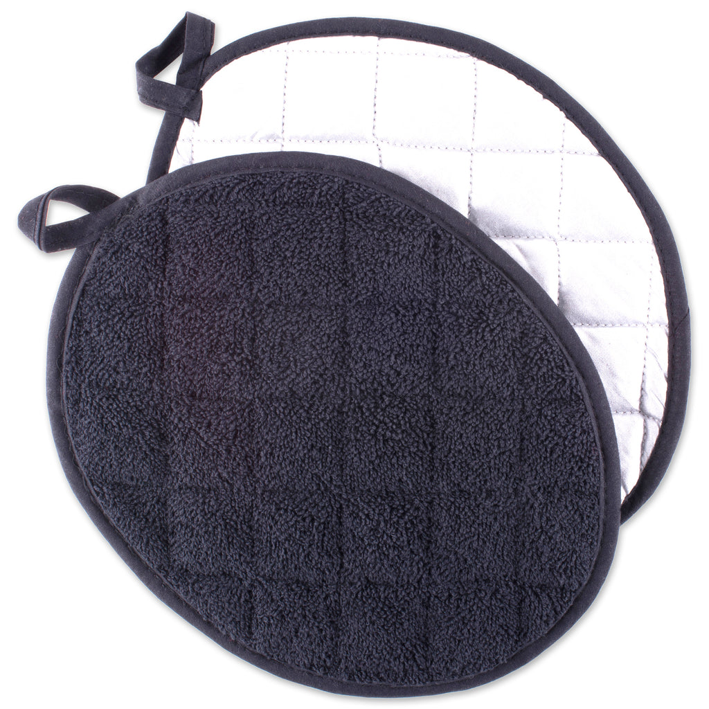 Black Oval Potholder Set/2