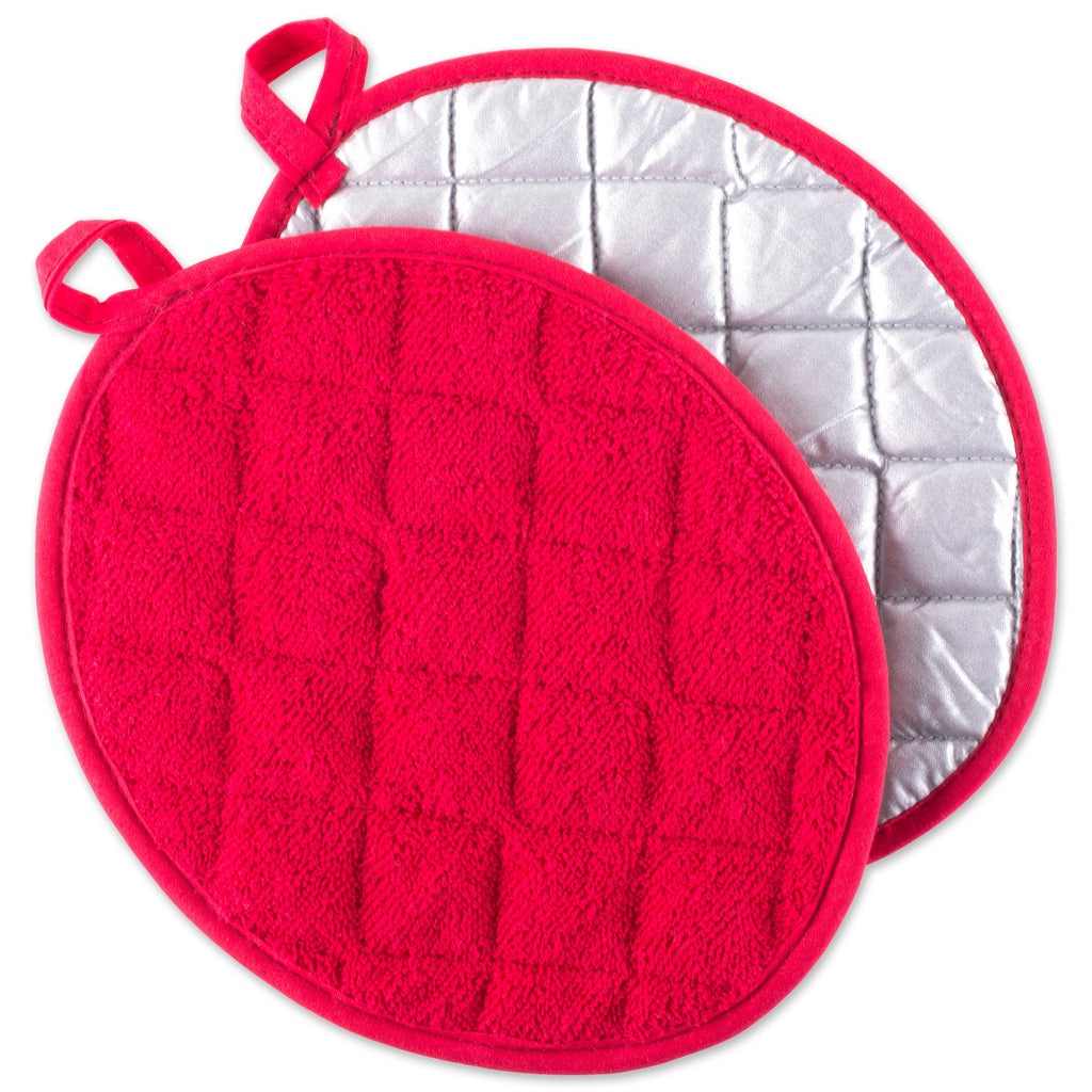 Red Oval Potholder Set/2