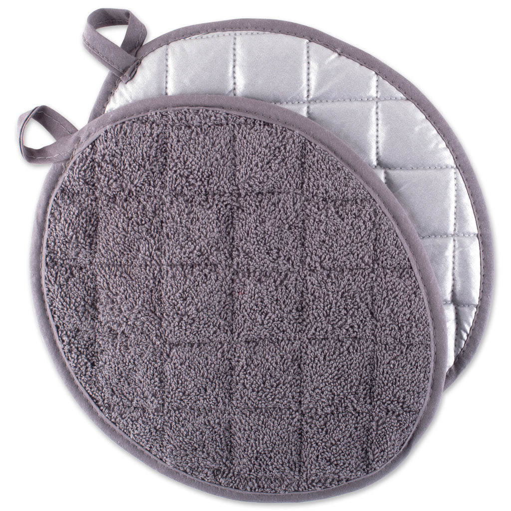 Gray Oval Potholder Set/2