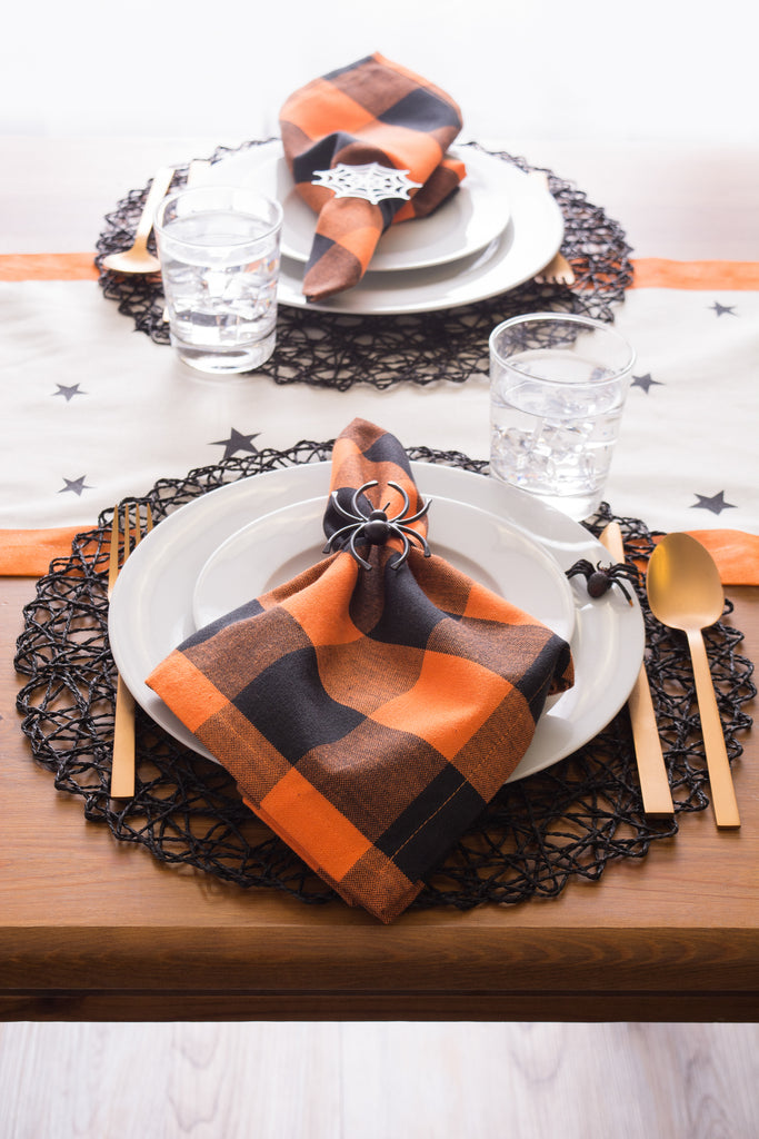 DII Orange Buffalo Check Napkin (Set of 6)
