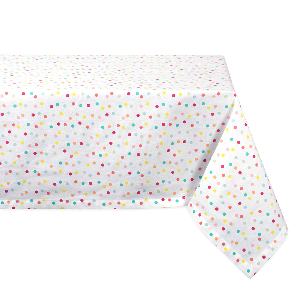 Multi Polka Dots Print Tablecloth 52x52