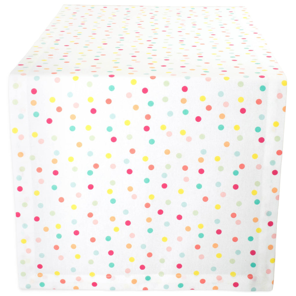 Multi Polka Dots Print Table Runner 14x108