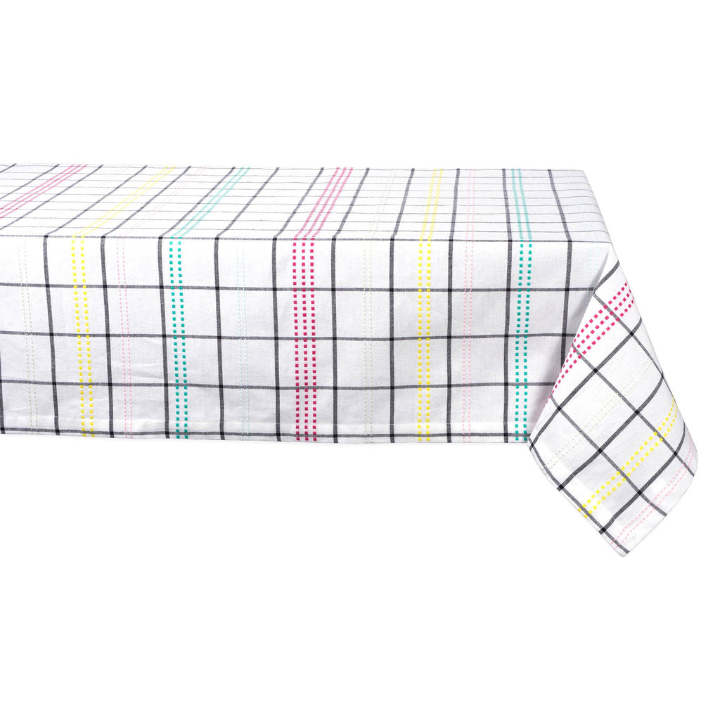 Color Pop Plaid Tablecloth 52x52