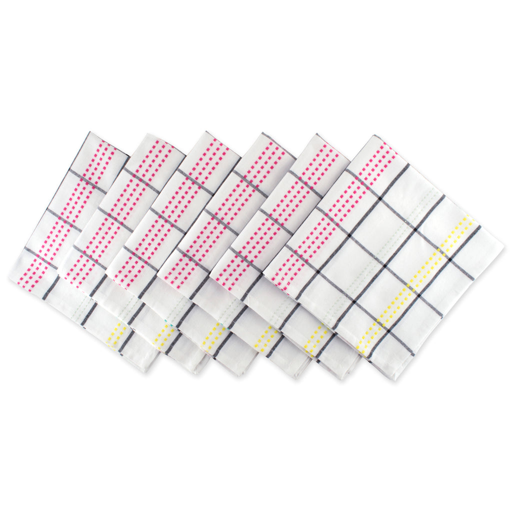 Color Pop Plaid Napkin Set/6