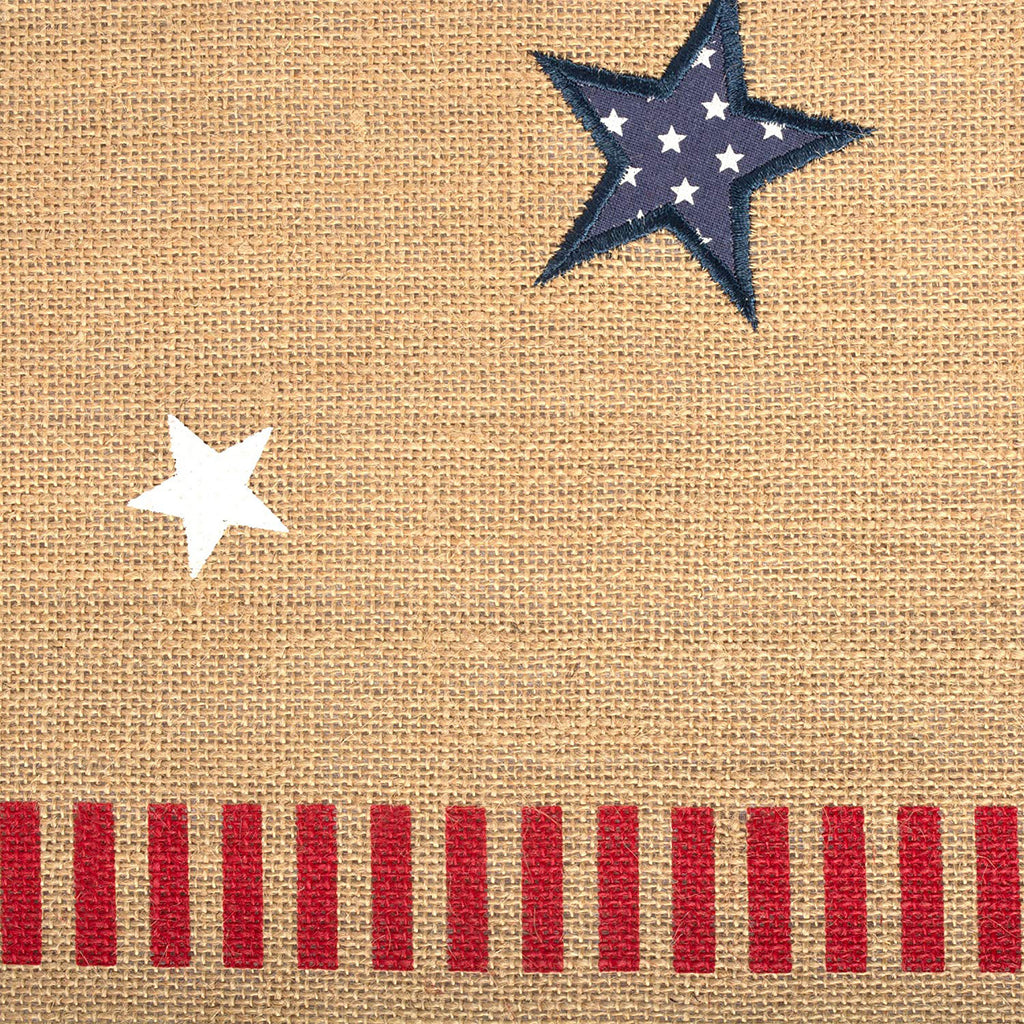 DII 4th Of July Jute Table Runner, 14x74""