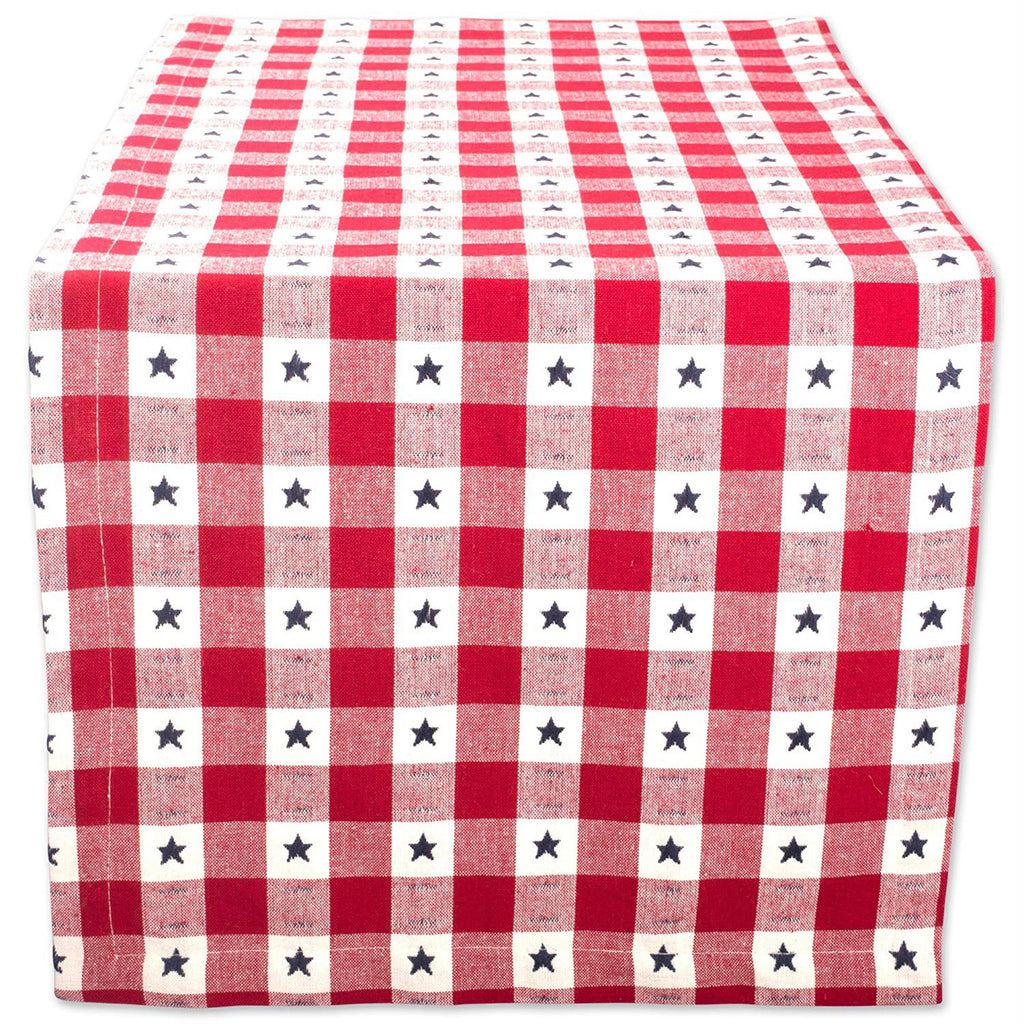 Star Check Table Runner 14x108