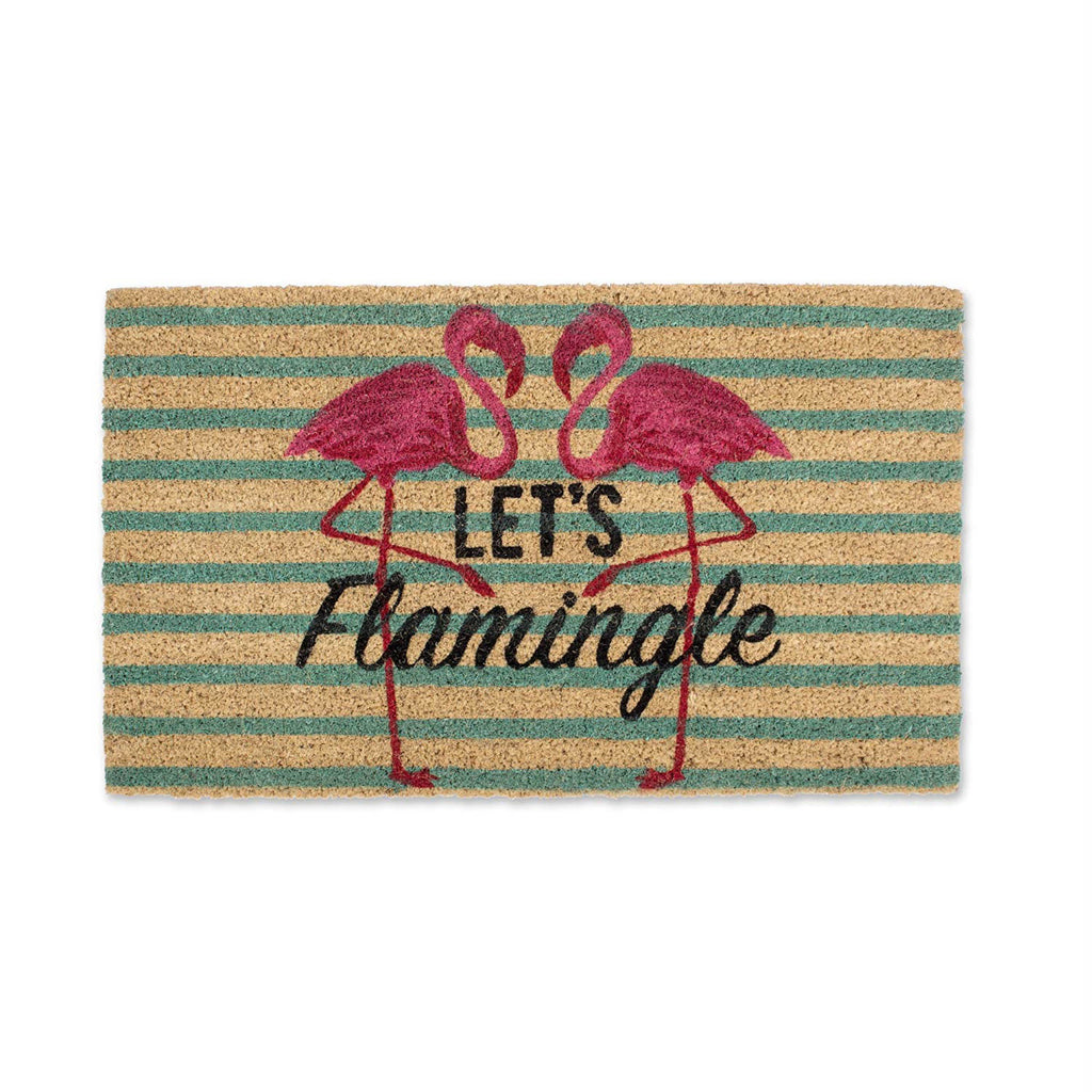 Lets Flamingle Doormat